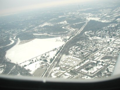 Arial photo of Des Moines Iowa - 4 December 2003