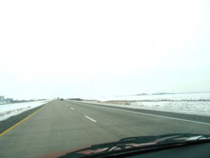 On the way back to Des Moines Airport - 4 December 2003