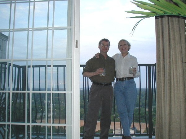 Me and Debbie on her balcony in Atlanta Georgia, 04 May 2005