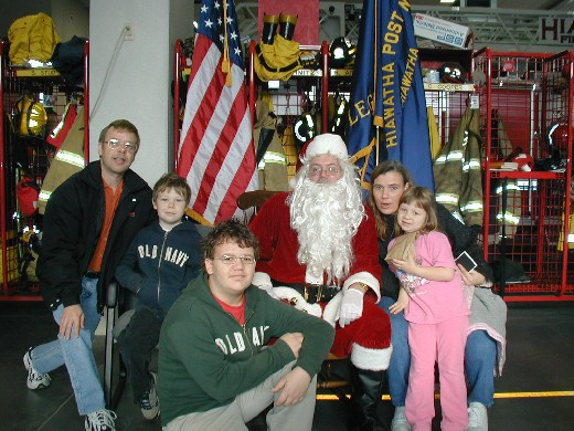 Christmas with Santa at the Fire Department - 18 Dec 04