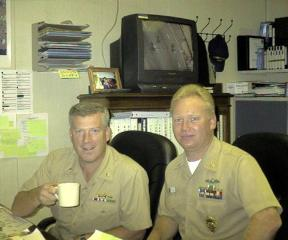 LCDR Willis & MAC(SW) Wingate
