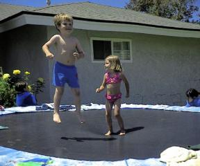Nathan and Friend jumping
