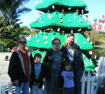 Me, Nathan, Daniel, Sianna & Jacquie at LEGO Land - 18 December 2003