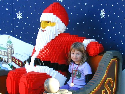 Sianna with LEGO-Claus - 18 September 2003
