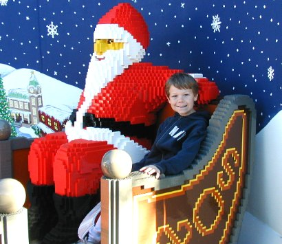Nathan with LEGO-Claus - 18 September 2003
