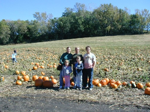 Goodson Family at the pumpkin patch - October 2004